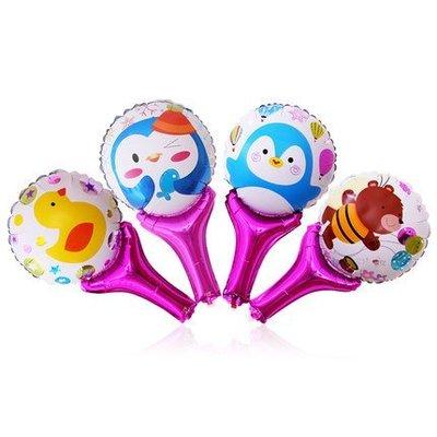 【氣球批發廣場】1號小黄鴨手持棒兒童生日派對活動玩具汽球 幼稚園加油棒球手持拍拍棒手拿棒