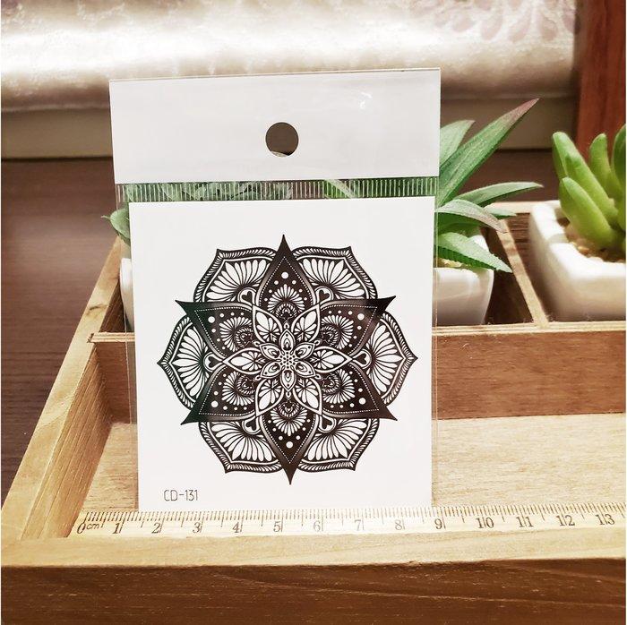 【萌古屋】】花朵圖騰 - 手背防水紋身貼紙刺青貼紙CD-131 K12