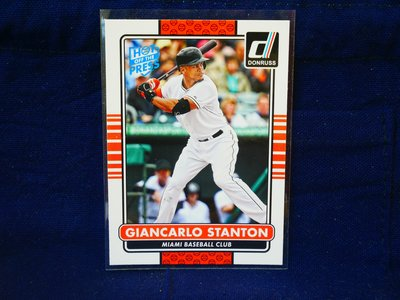 Giancarlo Stanton 2015 Donruss Hot off the Press 藍印平行卡