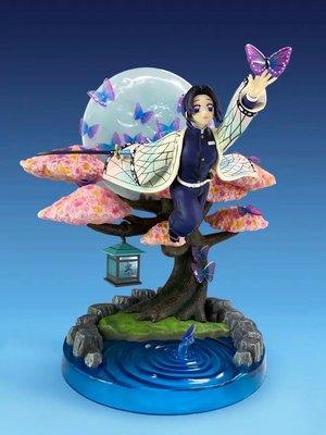 【紫色風鈴】鬼滅之刃GK 蟲柱 蝴蝶忍 飛姿 可發光場景 雕像盒裝 港版 無證