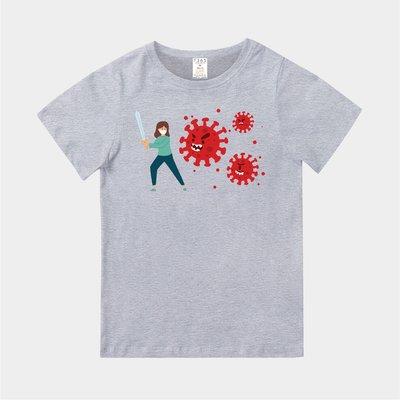 T365 台灣製造 CORONAVIRUS COVID-19 FIGHT VIRUS 對抗 親子裝 童裝 T恤 T