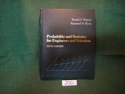 【愛悅二手書坊 13-36】Probability and Statistics for Engineers and Scientists