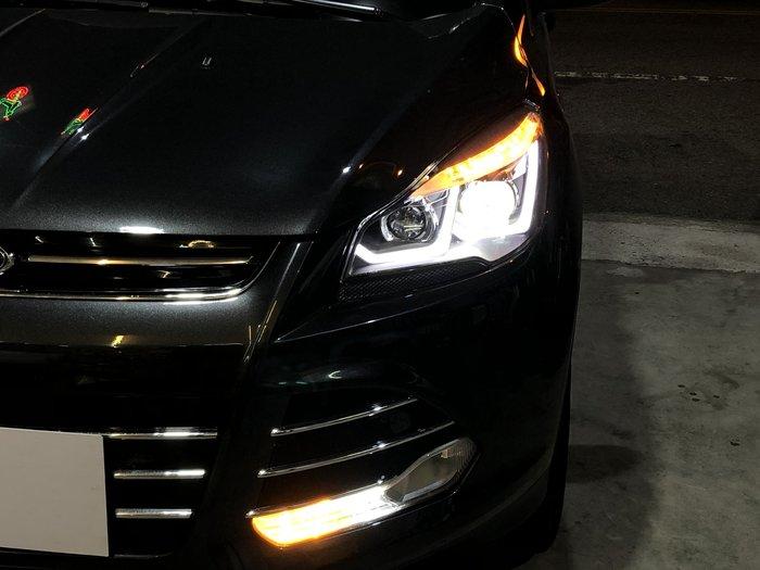 合豐源 車燈 福特 KUGA 13 14 15 16 魚眼 LED 導光 大燈 頭燈 翼虎 HID 燈眉 日行燈 17