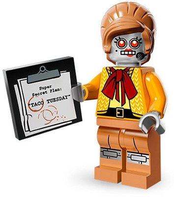 【荳荳小舖】LEGO樂高minifigures人物系列-樂高電影系列- #11 機器女秘書 含運200下標即售