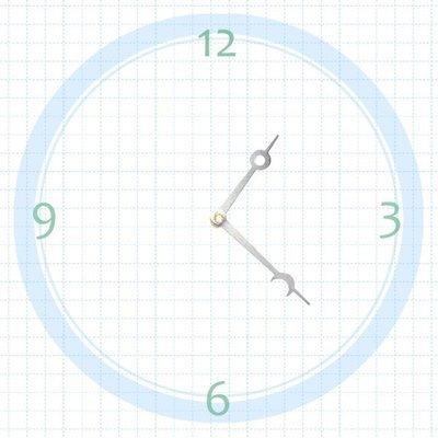 【鐘點站】T056046S SUN機芯專用 銀色星月指針 / 分針56 mm 時針46 mm / DIY 時鐘 掛鐘 鐘針