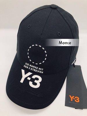 Y3 2018秋冬新款 STREET CAP 棒球老帽  黑  DT0887 蒙特歐洲精品