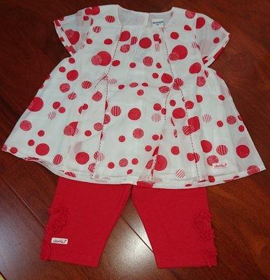 奇哥 absorba 紅色城市(套裝), 紅點點二件式, 尺寸: 5A,賣場優惠嬰幼兒服飾購5件9折,10件以上再享免運