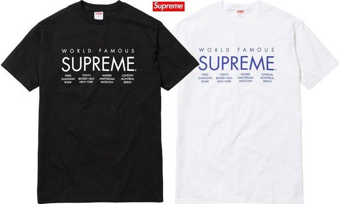 【超搶手】全新正品 2015 春夏最新 Supreme International Tee 字體 寶藍色 M