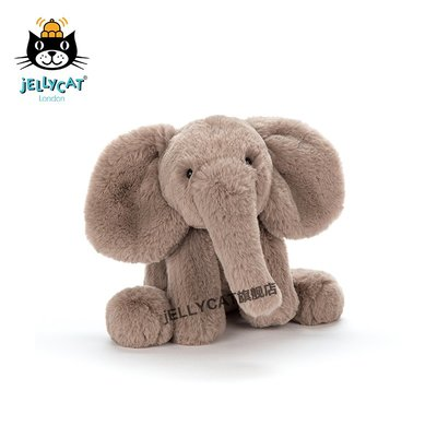 玩具小鋪~~新款jELLYCAT英國Smudge小象陪伴寶寶安撫玩具毛絨玩偶公仔