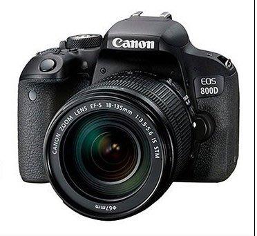 【柯達行】Canon EOS 800D+18-135MM USM 翻轉觸控螢幕 平輸繁中/店保 750D後續/含運