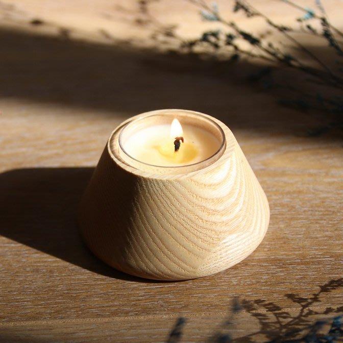 木合香氛蠟燭檯 (含天然精油驅蚊蠟燭)