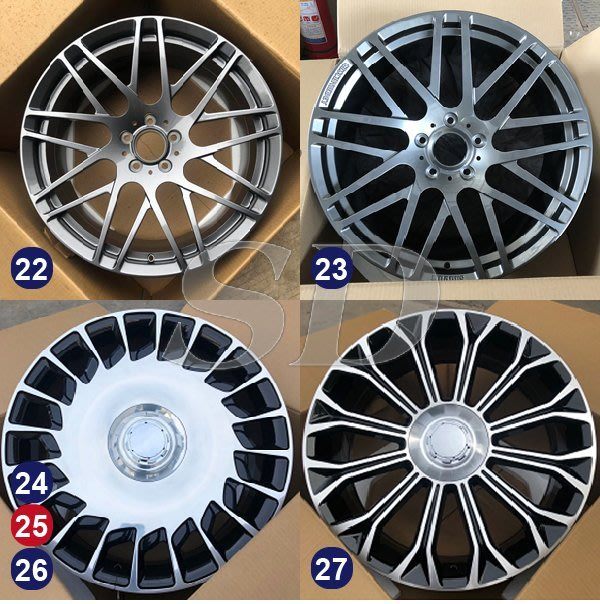 【SD祥登汽車】 For BENZ 賓士 18吋 鍛造鋁圈 25到43款 另有01款-60款可選擇