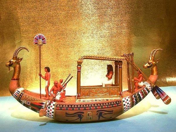 [ Vero 設計作品 手工彩繪-法老船 ]-尼羅河上 王家的紋章-Egypt埃及古文明.