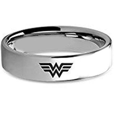 coi jewelry tungsten carbide wonder woman wedding band ring 戒指all sizes
