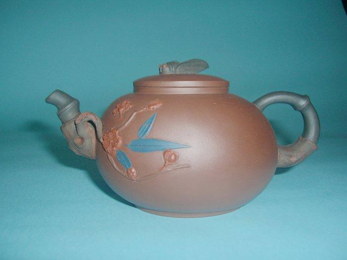(3包)中國宜興早期工藝美術師范中泉320CC四君子之梅竹雙清紫砂壺(85年留下來的福)