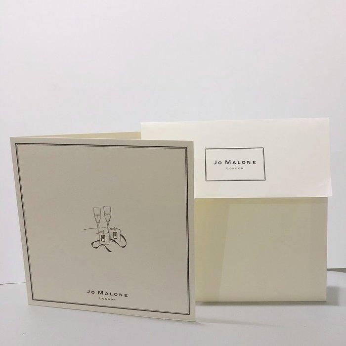 【化妝檯】 英國香氛品牌 Jo Malone 專櫃卡片(附信封) 生日卡片 聖誕卡 賀卡 情人節卡  明信片  台灣專櫃