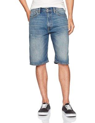 【彈性新款29-44腰優惠】美國Levis 569 Loose Short Dubious 淺藍破痕寬版直筒丹寧牛仔短褲