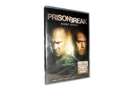 【優品音像】 高清美劇 越獄 5季 Prison Break 5 3DVD 未刪減 純英文版 精美盒裝
