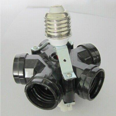 5Cgo【權宇】解決LED燈不夠亮的問題 攝影燈 轉換器 燈頭燈座 E27 一轉五 一分五 一標三個組 含稅會員扣5%