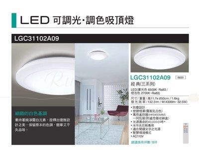 現貨+免運【燈聚】 Panasonic 國際牌 LED吸頂燈 LGC31102A09 可遙控調光調色