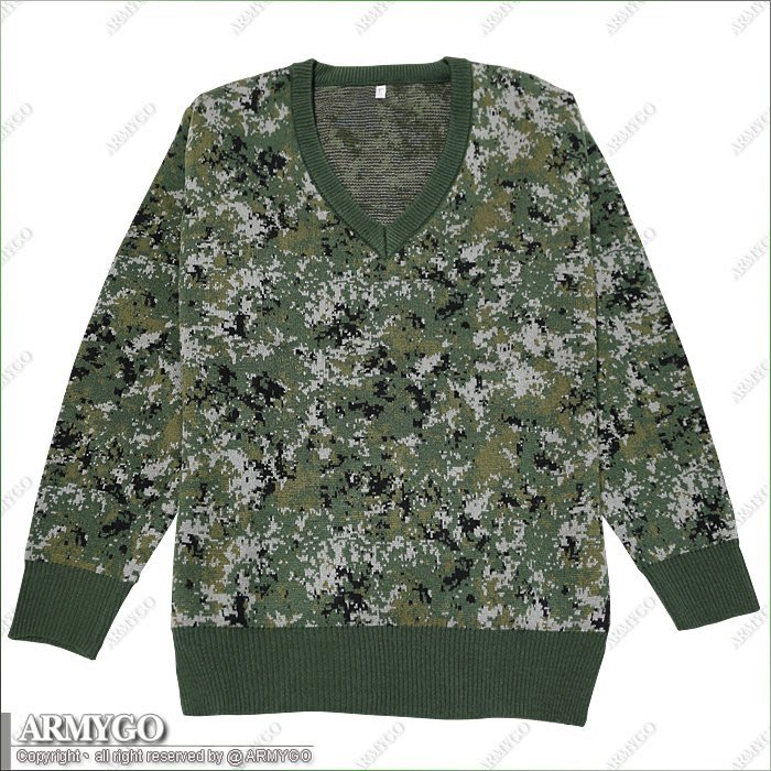 【ARMYGO】國軍數位迷彩保暖長袖毛衣