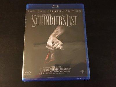 (全新未拆封)辛德勒的名單 Schindler's List 20週年版藍光BD(洲立公司貨)