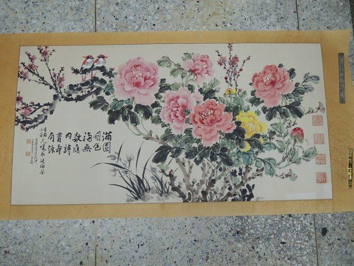 【古董字畫專賣店】胡昌織,花卉,水墨畫作品