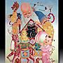 【 金王記拍寶網 】S1394  中國西藏藏密佛像刺繡唐卡 福祿壽翁 刺繡 (大張) 一張 完美罕見~