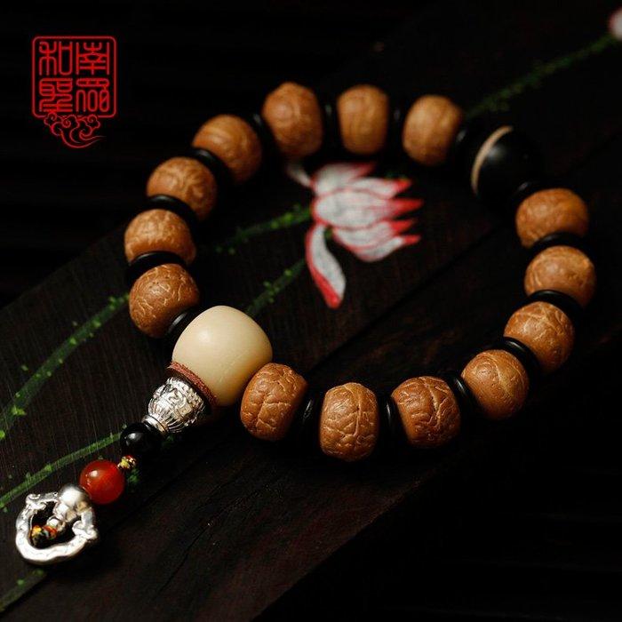 宏美飾品館~天然尼泊爾藏式鳳眼菩提手串紅皮鳳眼菩提子藥師佛珠手鍊男女
