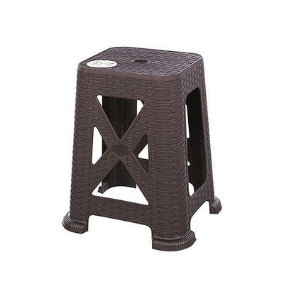 315百貨~聯府 KGB7902 百威藤藝椅 45cm(咖啡)    /  塑膠椅 戶外休閒椅 輕便椅