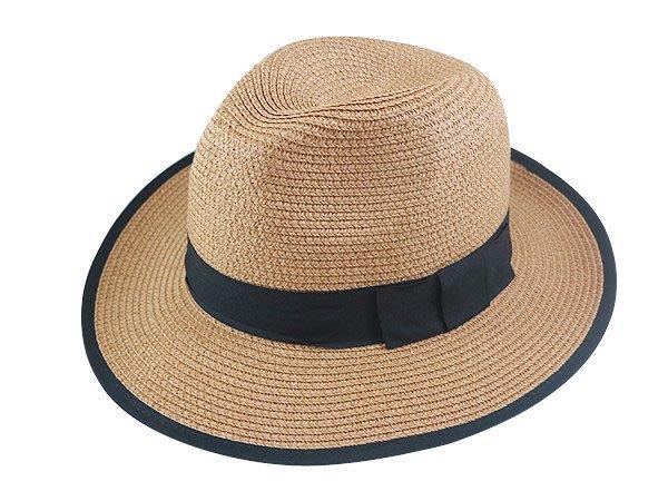 金城武同款通用型限定帽子/ 流行(黑色平口帶4cm)寬邊(7cm)加大帽沿(滾黑邊)軟藤紳士帽-3色