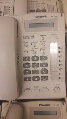 國際牌KX7665/9成新中古屏電話總機。也回收電話總機