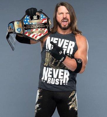 [美國瘋潮]正版WWE AJ Styles Never Rest Never Rust Tee 永不歇息最新款衣服熱賣中