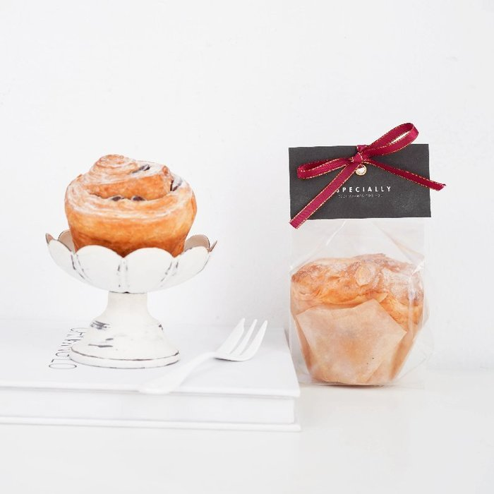 Amy烘焙網:50入日式長方型立體側邊包装袋+卡頭紙/烘焙包裝袋/布丁手工皂包装袋/婚禮小物包裝袋