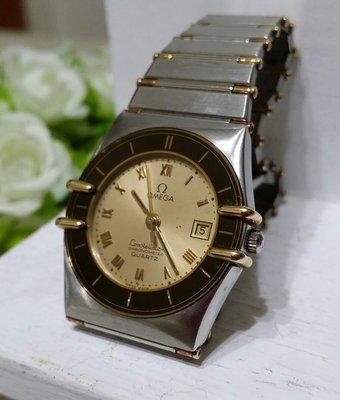 OMEGA歐米茄原裝18K半金女錶