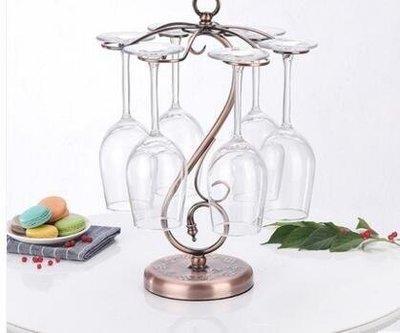 ZIHOPE 創意紅酒架鐵藝高腳杯架歐式葡萄酒杯架子倒掛吊杯架紅酒杯架ZI812