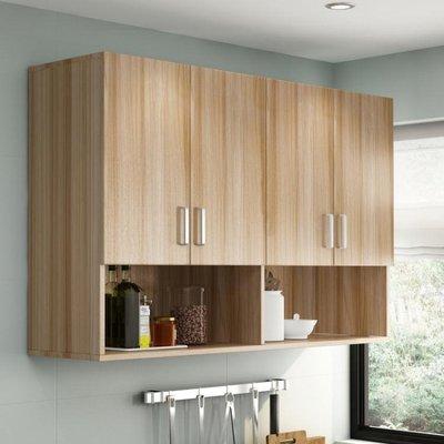 簡約吊櫃廚房收納櫃掛櫃陽臺浴室衛生間臥室牆壁櫃頂櫃儲櫃定做   全館免運
