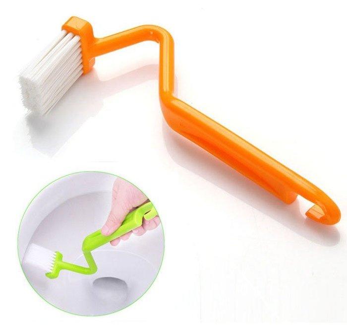 海馬寶寶 馬桶刷 S型馬桶刷彎曲柄V型清潔刷 家庭衛浴清潔刷子 V型高效馬桶刷 深入死角 不挑色