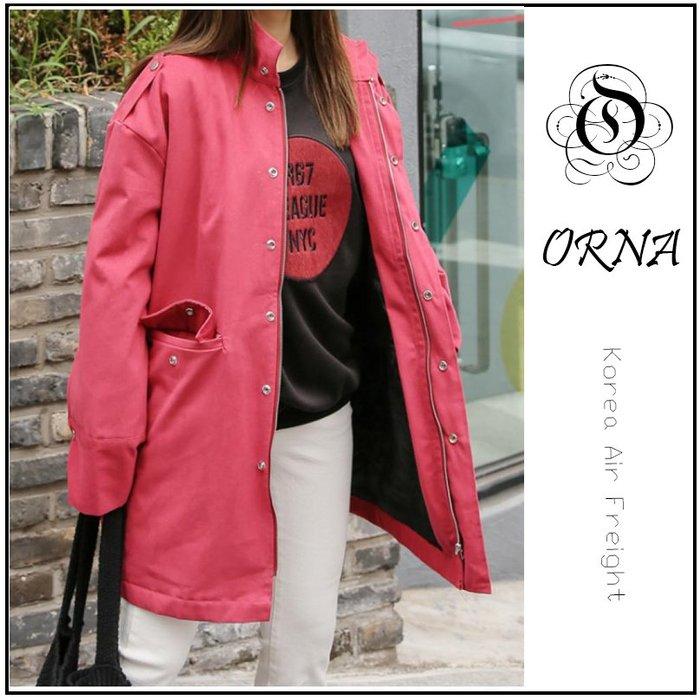 【ORNA爾瑞菈】現貨 韓國空運 韓國製造 韓妞最愛風衣外套 騎車必備夾克