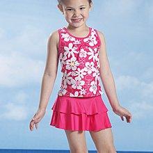 A&T【免運費】女童粉色二件式泳衣(附帽)$原價1100【67780】S~2L