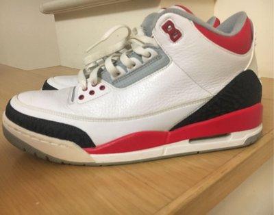 AJ3 AIR Jordan 三代 白紅 喬丹 籃球鞋 US10
