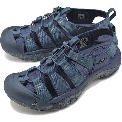 =CodE= KEEN NEWPORT H2 SANDALS編織彈性綁繩護趾防水包頭涼鞋(藍灰) 1020286 拖鞋男