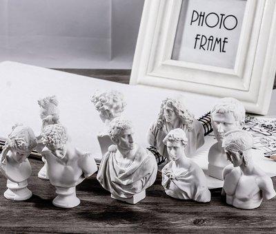 古希臘神話石膏像【NF534】10入 復古 雕像 素描 歐洲 文藝復興 美術 藝術 裝飾 辦公室 擺飾