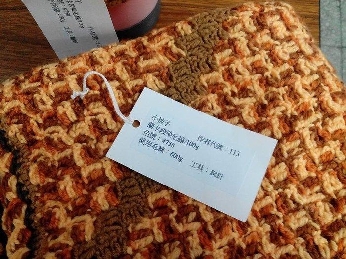 ☆彩暄手工坊☆被毯~小格紋(鉤針)被毯材料包~多色任選配!手工藝材料、編織書、編織工具、進口毛線、鉤針娃娃