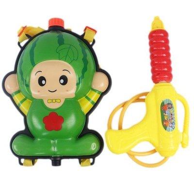 水果背包水槍 西瓜 草莓 槍長28cm/一個入(促199) 水果造型水槍 兒童後背式水槍加壓式強力水槍-CF129042