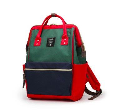 時尚紅綠藍anello 大號小號雙肩包 現貨免運 日本樂天熱賣 手提包後背包 單肩包側背包 nike 愛迪達 牛仔褲百搭 台北市