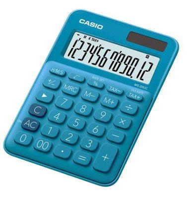 【天龜】 CASIO 時尚甜美 俏藍莓馬卡龍計算機 10位數 利潤率計算 稅金計算 MS-7UC BU 台中市