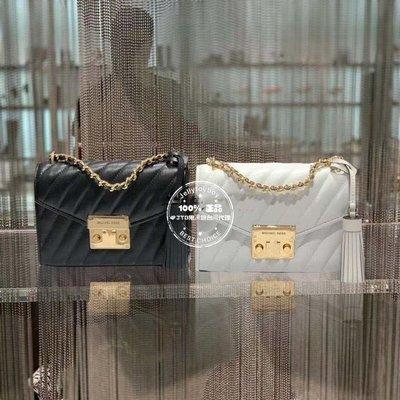 折扣款 MK包 4款顏色 全新正品 Michael Kors ROSE 小款 20CM 斜紋羊皮鏈條包 鎖頭包