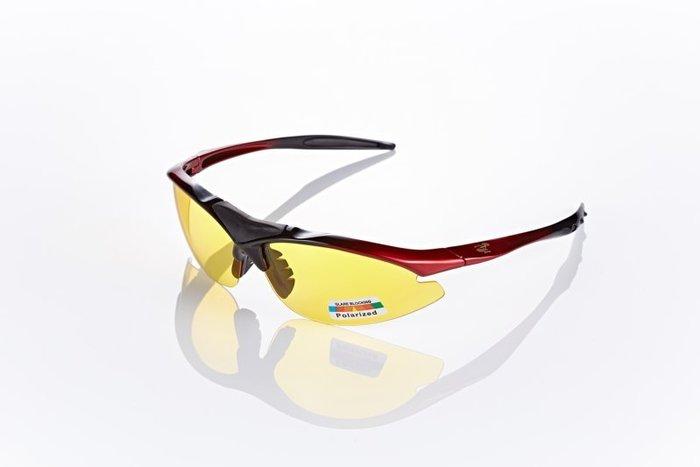 視鼎Z-POLS 頂級黑紅漸層太空纖維TR90材質輕量框體 搭夜用增光黃抗UV400頂級偏光太陽眼鏡