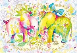 協泰拼圖舖-現貨 APP-300-327 Reina Sato 佐藤玲奈 繪畫 彩虹 動物園 插畫 大象 300片